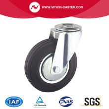 Bout gat Swivel Rubber industriële Caster