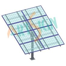 Système de montage sur poteau solaire dans un montage au sol solaire
