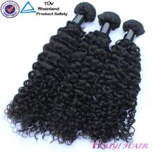 Não processado barato 8A cru 9A 10A cabelo humano encaracolado indiano do cabelo de 100 por cento