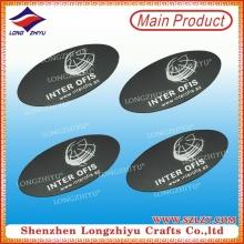 Kundenspezifisches Metall Namensschild Silber überzogene Namensschilder