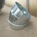 Galvanized plate spiral elbow for ventilating pipe joint