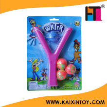 Funny Y Shape Kids Water Bomb Slingshot with 3 Balls Balloon Toy Promotion