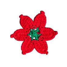 Moda Mão Crochet Flower Applique Motif Acessórios Enfeites