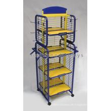 Qualität Garantierte Boden Standing 4-Wege-Metall bewegliche kommerzielle Retail-Abteilung Store Shelving