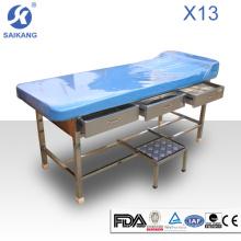 X13 tabela clínica médica do exame ajustável com gavetas