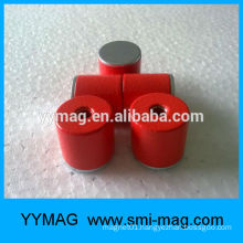 Super strong Cast Alnico magnet pot with Counterbore