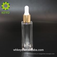 30 ml de óleo essencial quadrado frasco conta-gotas de vidro embalagem cosmética fundação loção garrafa de vidro