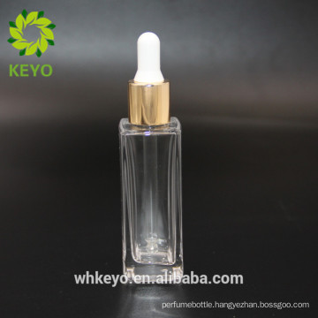30ml square essential oil glass dropper bottle cosmetic packing foundation lotion glass bottle