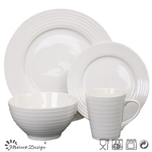 Porcelain Ceramic Embossed Dinner Set