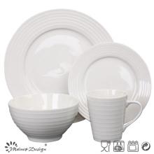 Juego de cena de cerámica en relieve en porcelana