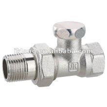 09344 Niquelado Válvula de retención de latón, válvula de radiador