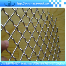 Malla tejida cruzada de acero inoxidable decorativo