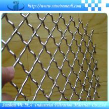 Malha tecida frisada de aço inoxidável decorativa