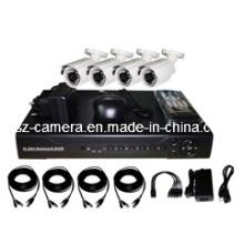 "4CH DVR Kits + 800tvl 1/3 ""CMOS cámaras al aire libre"