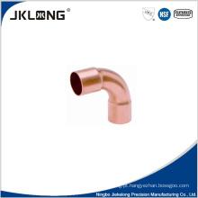 J9014 forjado de cobre 90 graus grande R cotovelo 1 polegada de cobre encaixe de tubulação
