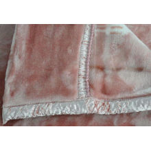 100% Acrylic Soft Antistatic Blanket With Pink Double Printed