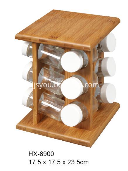 bamboo spice storage rack