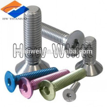 M3-0.5 Pitch X 6mm Flat Head Socket Drive Titanium Machine Screw