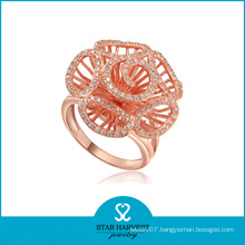 Wholesale Flower Silver Ring Jewellery (R-0001)