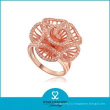 Оптовые ювелирные изделия кольца серебра цветка (R-0001)