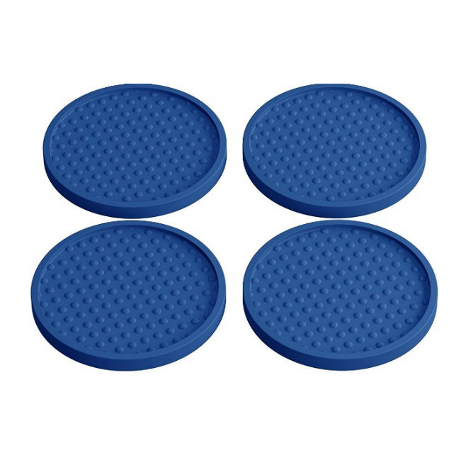Elegant Blue Reusable Drink Coasters 4 Pack