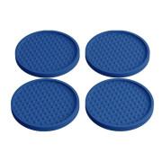 Elegante Blue Reusable Drink Coasters Paquete de 4