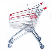 Geomarkt-Einkaufswagen mit Chrom-Beschichtung