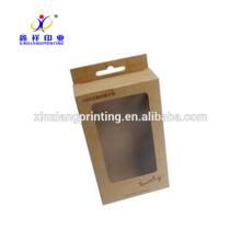 Caja de papel Kraft USB y cajas de embalaje de alambre de datos Embalajes de papel artesanal
