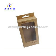 Крафт-бумага Коробка USB и кабель данных Упаковка коробки Крафт-бумаги упаковки
