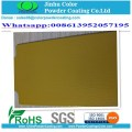 Protective transparent clear topcoat powder coating