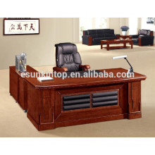 Classic wood veneer office executive desk