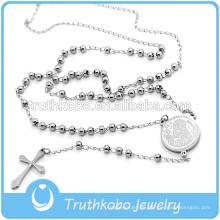 Truthkobo Supply High 3MM bolas de pulido Rosario religiosa con San Benito