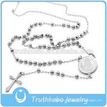 Truthkobo Supply High Polishing 3MM Ball Beads Religious Rosary WIth San Benito
