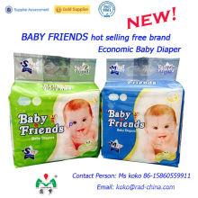 Baby Friends Factory Marca Desechable Bebé Producto Fralda Pañal