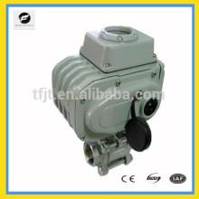 Robinet à tournant sphérique de moteur électrique de SS304 DC24V avec DC12V pour la protection de l'environnement et le système de l'eau de vidange, projet de traitement de l'eau