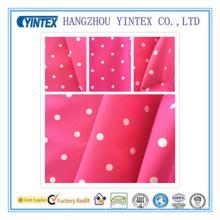 100% polyester 300t pleine impression pongée terne avec tissu de revêtement, 50d * 50d / 110 * 80