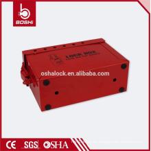 El kit de bloqueo de seguridad de acero inoxidable BD-X02 puede acomodar 12 candados