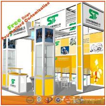 pequeña feria comercial para el sistema de exposición de exposiciones, ayudar a diseñar el sistema de cabinas de exhibición