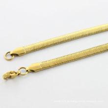 Fornecedor do alibaba, colar do ouro da forma 2014 com centopéia para homens, colar do ouro