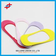 Damen Süßigkeiten farbigen benutzerdefinierten Großhandel niedrigen Schnitt unsichtbaren Socken