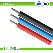 Одобренный TUV одножильный фотоэлектрический кабель 1 кВ, солнечный кабель, PV1-F