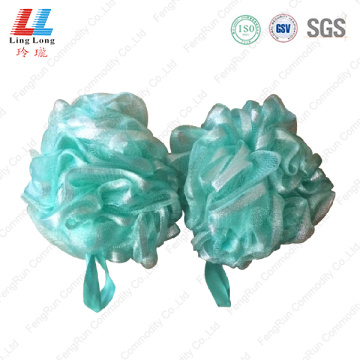 Ribbon mesh shine bath sponge