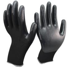 NMSAFTY balck nitrilo revestimento, revestimento suave palm revestido luvas industriais