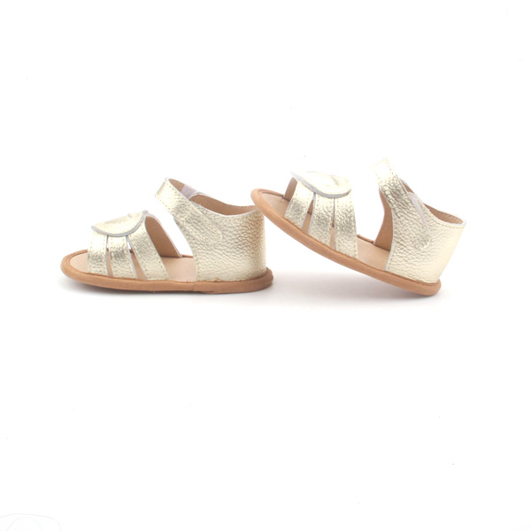 Wholesale Handmade Flat Soft Leather Baby Girl Sandals