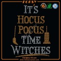 It's Hocus Pocus Time Witches rhinestone transfers