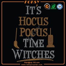 Het is Hocus Pocus Time Witches strass overdrachten
