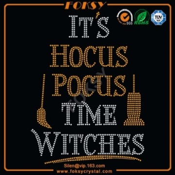 Se trata de Hocus Pocus Time Witches rhinestone transfers