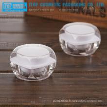 YJ-KO série arrondi carrés 15g mini pots acrylique