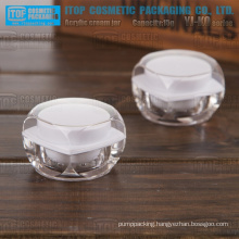 YJ-KO Series rounded square 15g mini acrylic jars