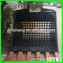 Customized excavator attachement screen bucket excavator